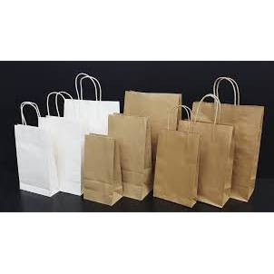 BROWN TWISTED HANDLED BAGS